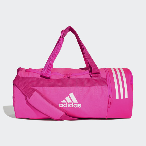 a98adb43d5 Convertible 3-Stripes Duffel Bag Small Shock Pink   White   White DN1861