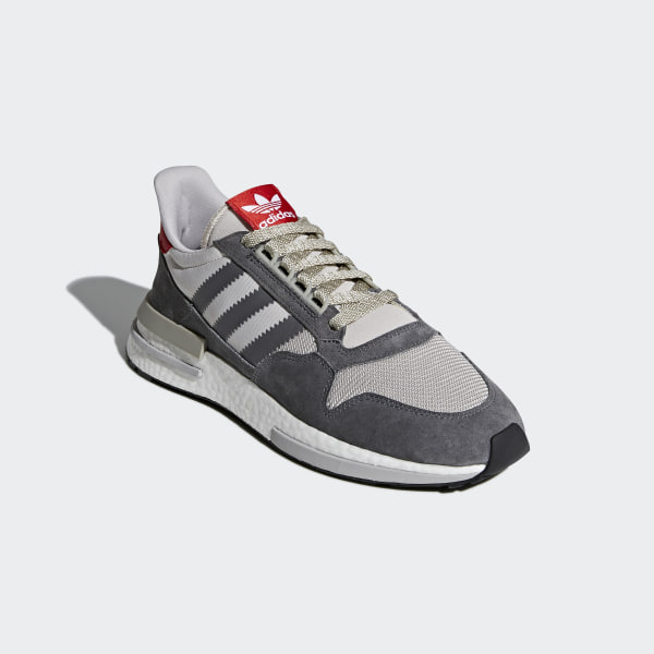 19099c884 ZX 500 RM Shoes Grey Four   Cloud White   Scarlet B42204