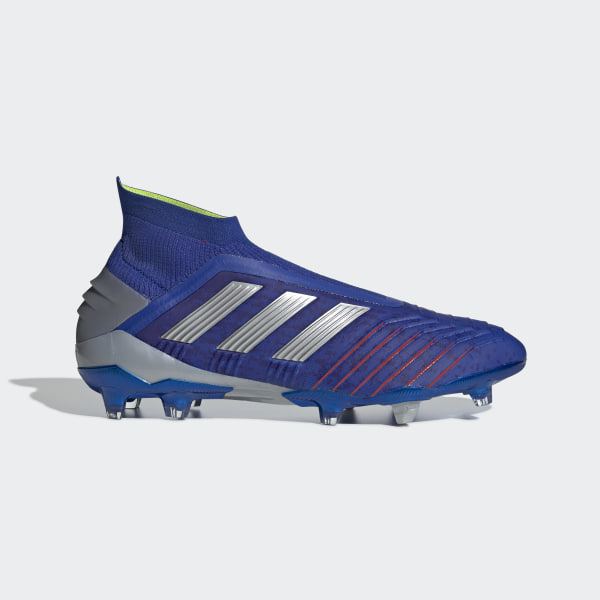 f2a84f6ca88f Predator 19+ Firm Ground Cleats Bold Blue   Silver Metallic   Active Red  BB9087
