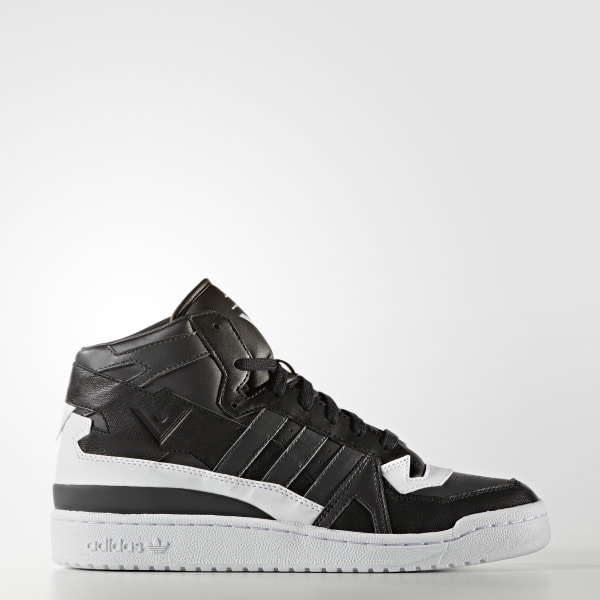 new concept 137ba 48c87 White Mountaineering Forum Mid Shoes Utility Black   Solid Grey   Running  White Ftw S80484