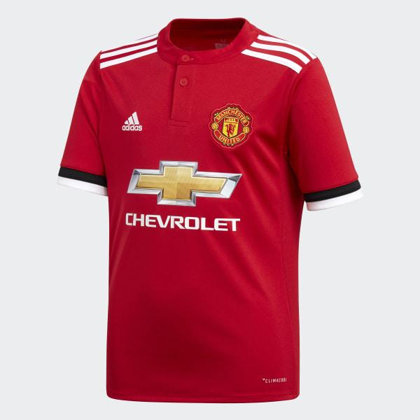 300ed6e1b51 Manchester United Home Replica Jersey Real Red   White   Black AZ7584