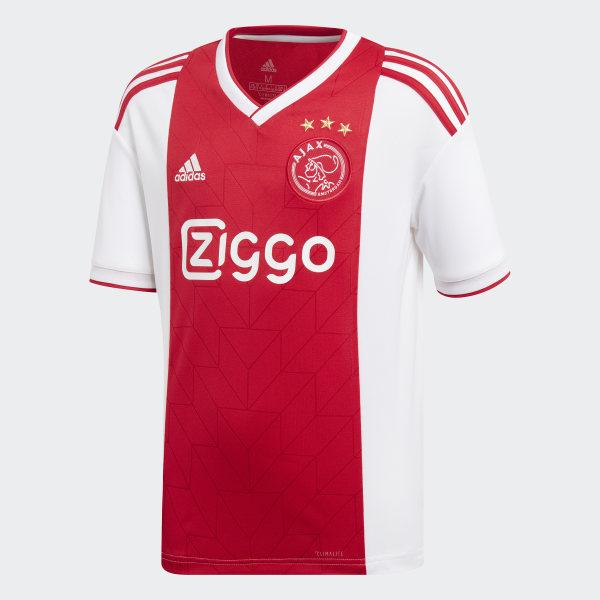 f2e186613b9e4 Camiseta primera equipación Ajax White   Bold Red CF5472