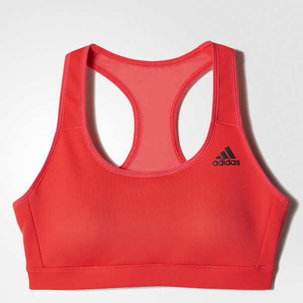9a5a3ca987633 adidas 3-Stripes Racer-Back Bra - Red