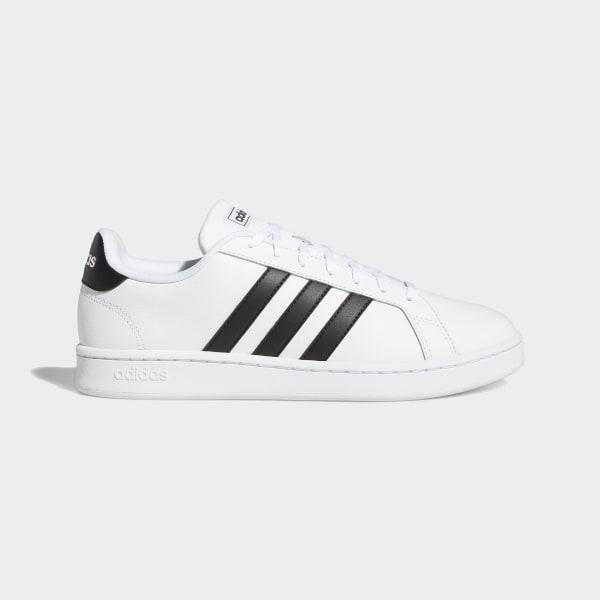 the latest 82a6b 533cf Grand Court Shoes Ftwr White   Core Black   Ftwr White F36392