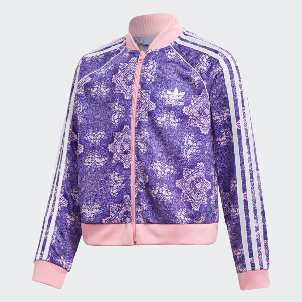 Culture Clash Cropped SST Track Jacket Multicolor   Energy Ink   Light Pink    White EK5585 4a86e8391