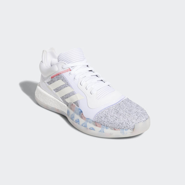 official photos 0d5e6 6945a Marquee Boost Low Shoes Cloud White  Off White  Shock Cyan G27745