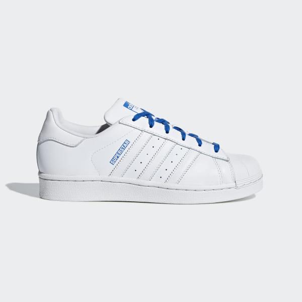 brand new a2a96 201a4 Superstar Schoenen Ftwr White   Ftwr White   Blue CG6616