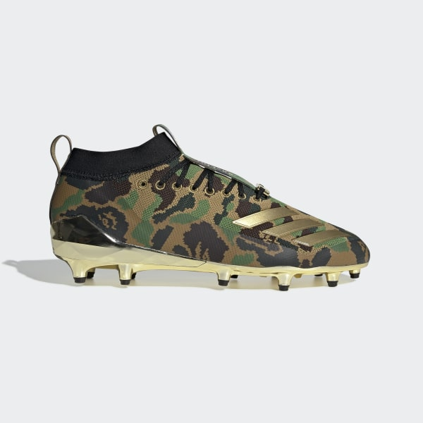 d5a6263db adidas x BAPE Cleats Black   Gold Metallic   Cloud White F35829