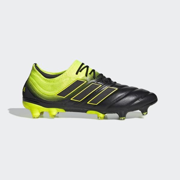 cheap for discount c1ae8 877a2 Calzado de Fútbol Copa 19.1 Terreno Firme Core Black   Solar Yellow   Core  Black BB8088