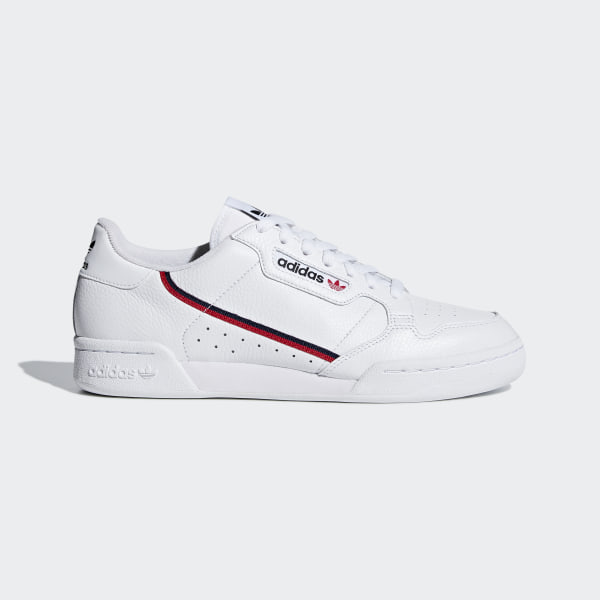 super popular 599e9 359ab Scarpe Continental 80 Ftwr White   Scarlet   Collegiate Navy G27706