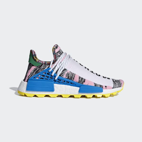 841d5cd2cff6c Pharrell Williams SOLARHU NMD Shoes Light Pink   Core Black   Bright Blue  BB9531