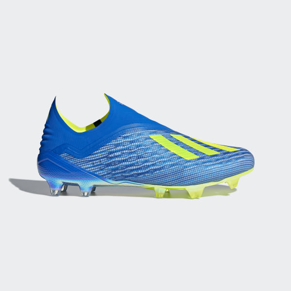 X 18+ Firm Ground Boots Football Blue   Solar Yellow   Core Black CM8358 3429bf93c