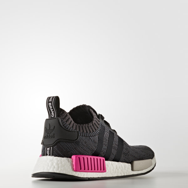 52a6c00e7c2b6 NMD R1 Shoes Core Black   Core Black   Shock Pink BB2364