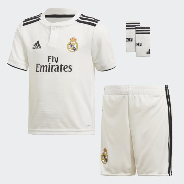 Mini Uniforme Local Real Madrid 2018 CORE WHITE BLACK CORE WHITE BLACK  CG0538 441d9ee9a616e