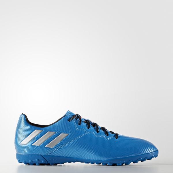 Botines de fútbol MESSI 16.4 TF SHOCK BLUE S16   MATTE SILVER   CORE BLACK  S79658 3ca6ed7a2726a