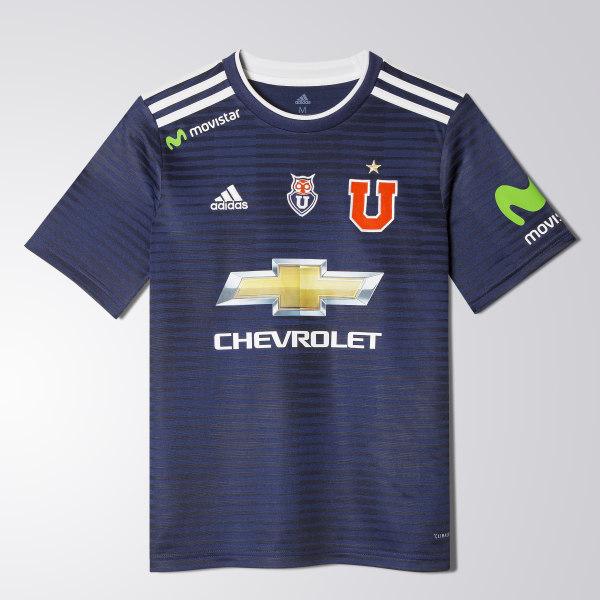 483f55f1e Camiseta Local Universidad de Chile 2017 2018 Niños WHITE BOLD BLUE CJ3626