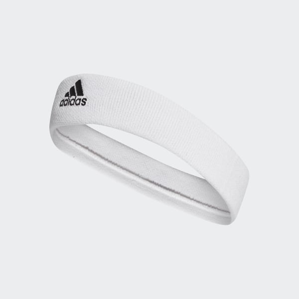 Tennis Headband White Black CF6925 17d2b9de435