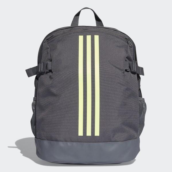 8e1fee0fe2e76 Plecak 3-Stripes Power Medium Grey Six   Hi-Res Yellow   Hi-