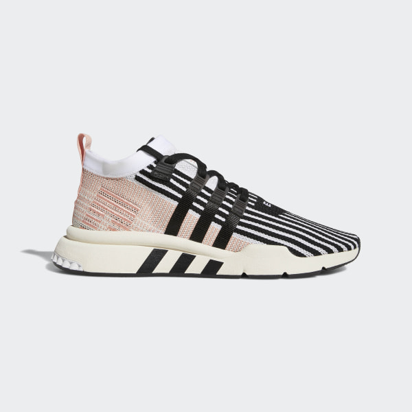 new product 78ad3 acbab EQT Support Mid ADV Primeknit Shoes Cloud White   Core Black   Trace Pink  AQ1048