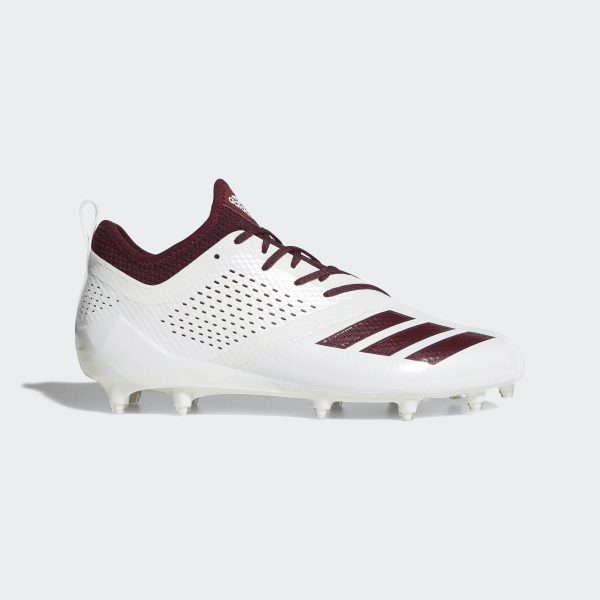 84ec3c36f627 Adizero 5-Star 7.0 Cleats Cloud White   Maroon   Maroon DA9550