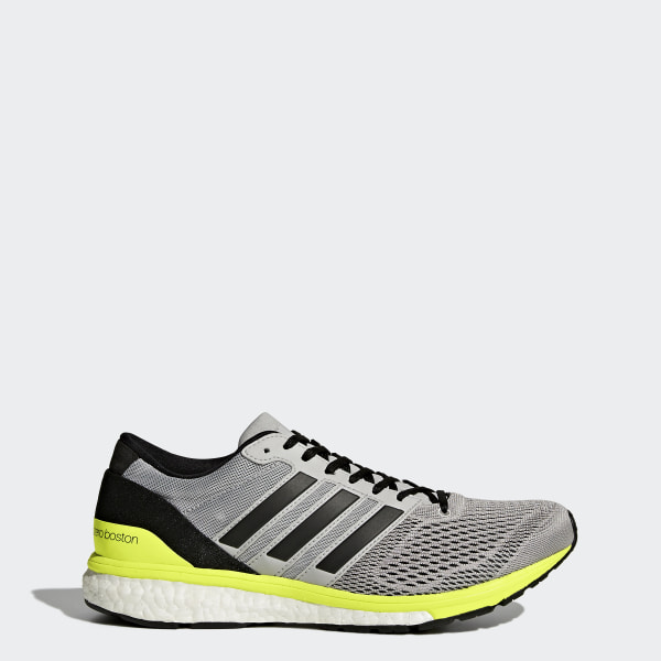 e2d256781 Tenis adizero Boston 6 GREY TWO F17 CORE BLACK SOLAR YELLOW BA8146