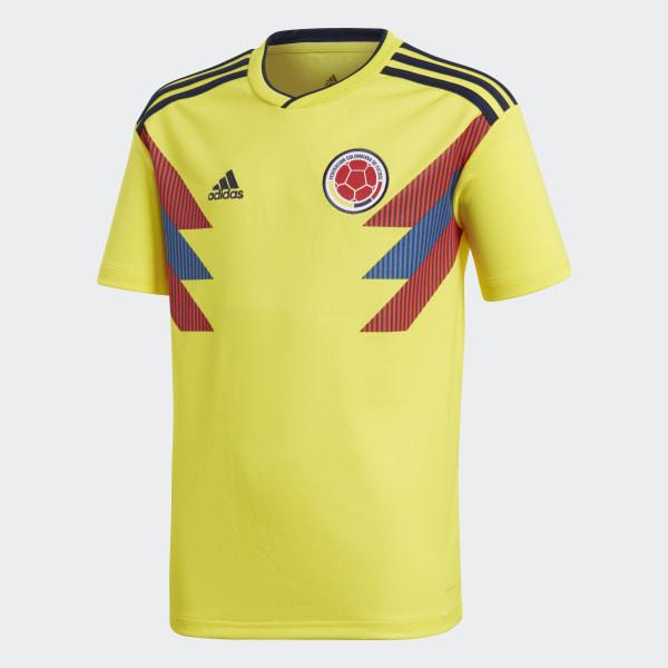e264f3396aa55 Camiseta Oficial Selección de Colombia Local Niño 2018 BRIGHT  YELLOW COLLEGIATE NAVY BR3509