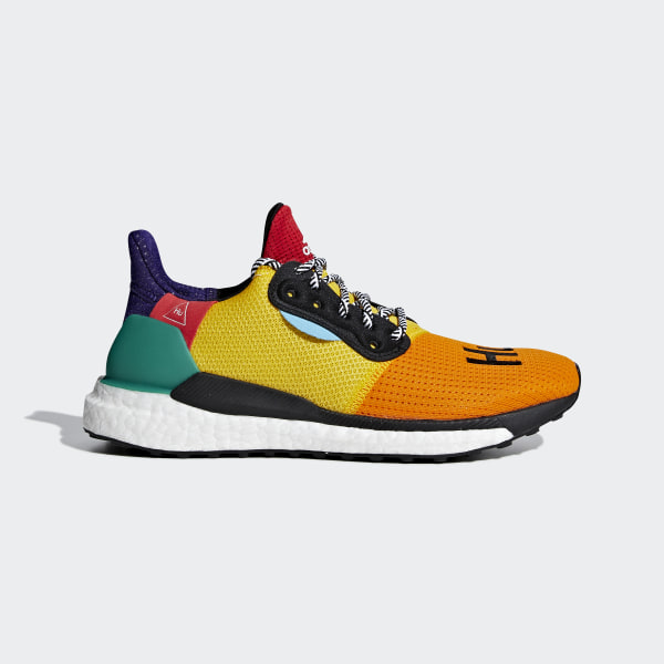65c0074be Pharrell Williams x adidas Solar Hu Glide ST Shoes Cloud White   Collegiate  Burgundy   Yellow