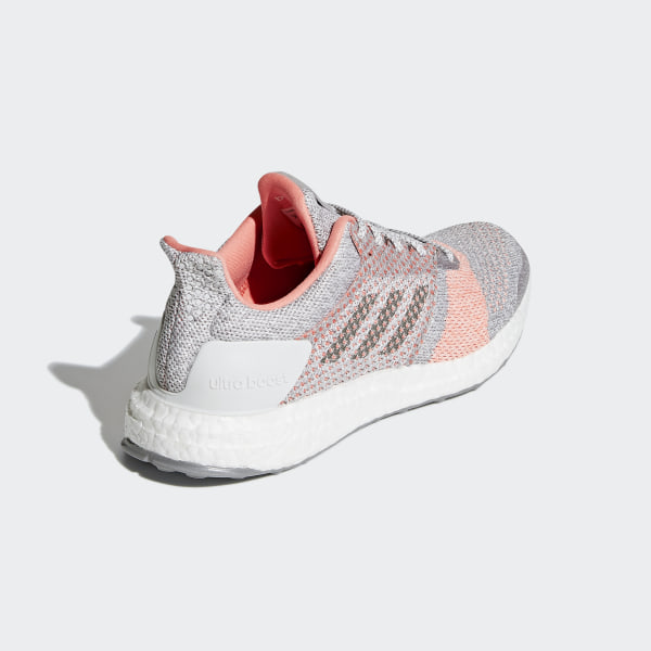 88bcf6e9c74 Ultraboost ST Shoes Crystal White   Grey   Clear Orange BB6481