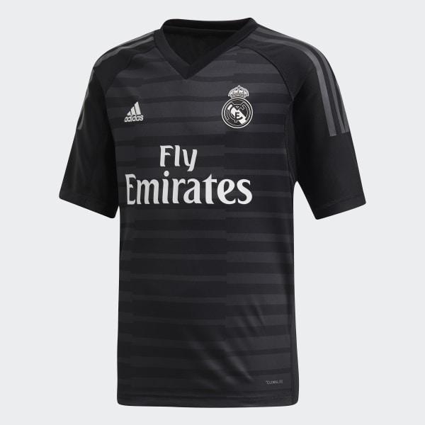 Jersey de Arquero Real Madrid Local Niño 2018 BLACK CARBON CG0566 40920fefa51