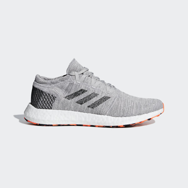 0d0527a90e48 Pureboost Go Shoes Grey Two   Core Black   Hi-Res Orange AH2324