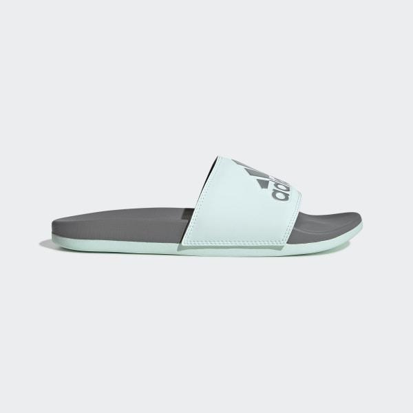 69c8fe85b adidas Adilette Cloudfoam Plus Logo Slides - Green | adidas US