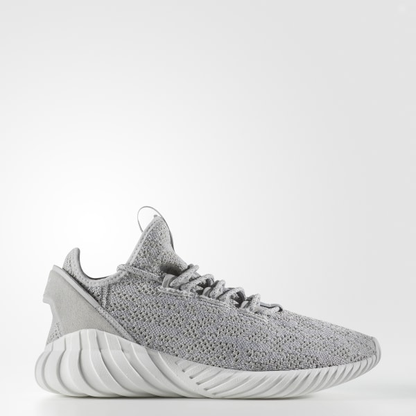 Tubular Doom Sock Primeknit Shoes Grey   Cloud White   Grey CQ0684 88ed663e5711
