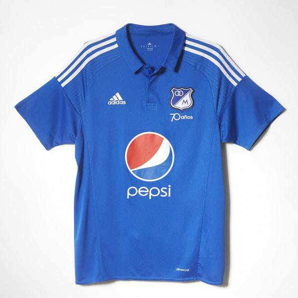 6171faf1305ff Camiseta Millonarios Home 2016 BLUE   WHITE   CLEAR BLUE AN9759