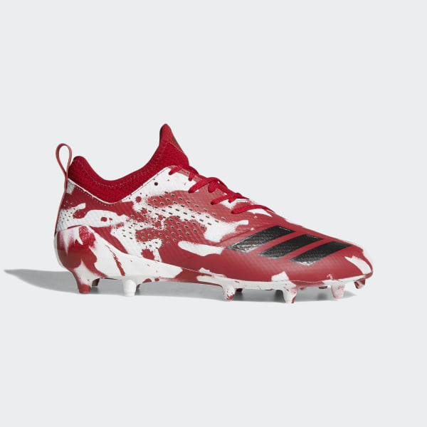 low priced 87d79 c8a3f adizero Tagged Cleats Cloud White  Core Black  Power Red DB0624