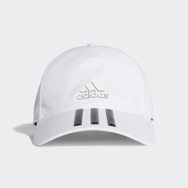 366878497da C40 3-Stripes Climalite Cap WHITE BLACK BLACK CG1782