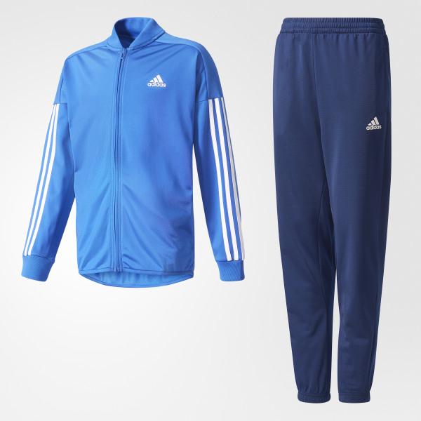4bacad1ebd805 Pants con Chamarra Iconic Adidas Junior TOP BLUE WHITE BOTTOM MYSTERY BLUE  BQ3004
