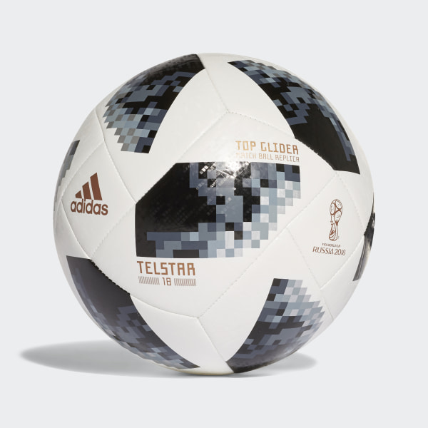 21d0ec7589979 Balón FIFA World Cup Top Glider 2018 WHITE BLACK SILVER MET. CE8096