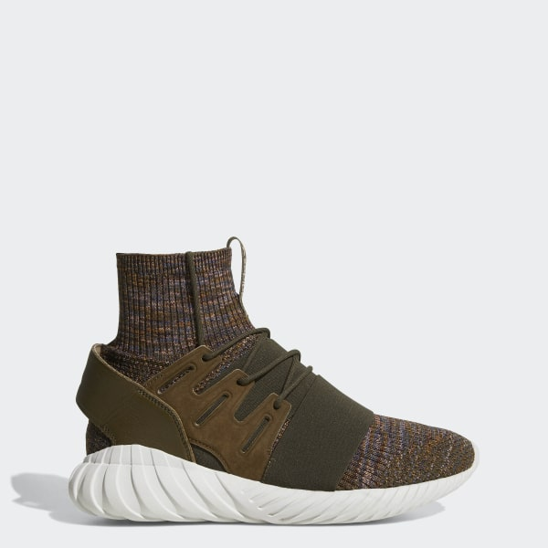 455122076 Tubular Doom Primeknit Shoes Trace Olive   Mystery Brown   Crystal White  BY3551