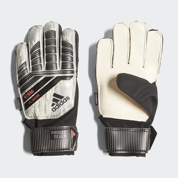 5cdbac7d5ed4 Predator Fingersave Junior Manuel Neuer Gloves White   Silver Metallic    Black   Solar Red CW5627