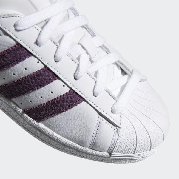 premium selection d847f 6baa1 Superstar Shoes Cloud White   Red Night   Silver Metallic B41510