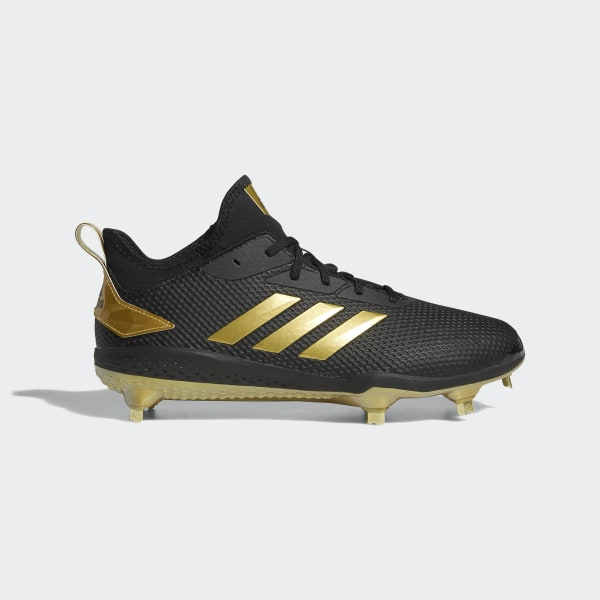 fb79b6d70fa Adizero Afterburner V Cleats Core Black   Gold Metallic   Gold Metallic  CG5223