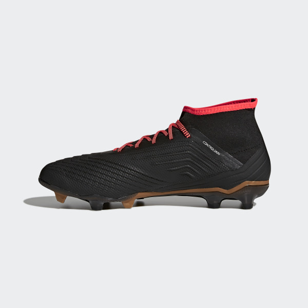 sports shoes dfe13 96bec Predator 18.2 Firm Ground Fotbollsskor Core Black   Ftwr White   Solar Red  CP9290