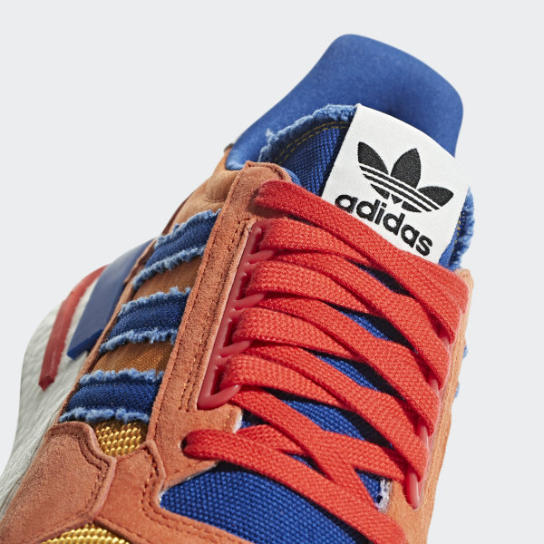 big sale 68078 040fe Dragonball Z ZX 500 RM Shoes Orange  Collegiate Royal  Hi-Res Red D97046