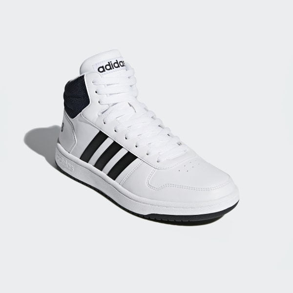 b738051708cb5d Hoops 2.0 Mid Shoes Cloud White   Core Black   Collegiate Navy DB0080