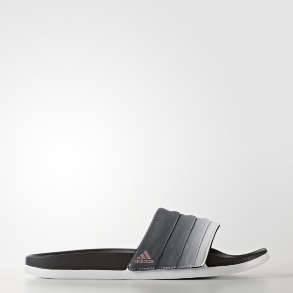 fc519b2c04fa adilette Cloudfoam Ultra Armad Slides Core Black   Tech Rust Metallic    Cloud White BB3732