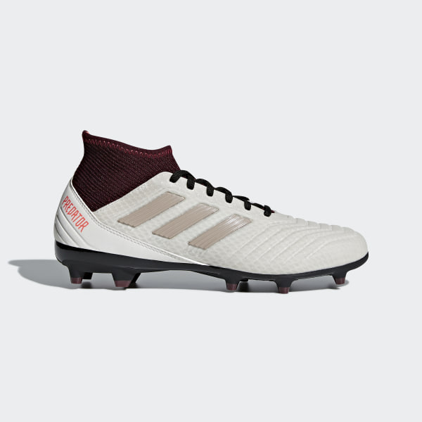 super popular d2bac f4633 Predator 18.3 Firm Ground Boots BeigeTalcVapor Grey MetallicMaroon DB2511