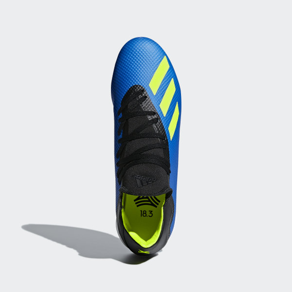 5dcdd4ec79c69 X Tango 18.3 Turf Boots Football Blue   Solar Yellow   Core Black DB1955