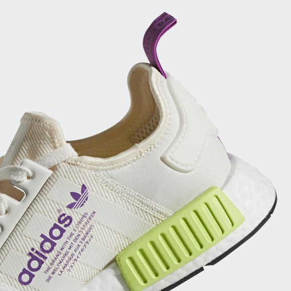 4c23a603b564a NMD R1 Shoes Chalk White   Chalk White   Semi Solar Yellow D96626
