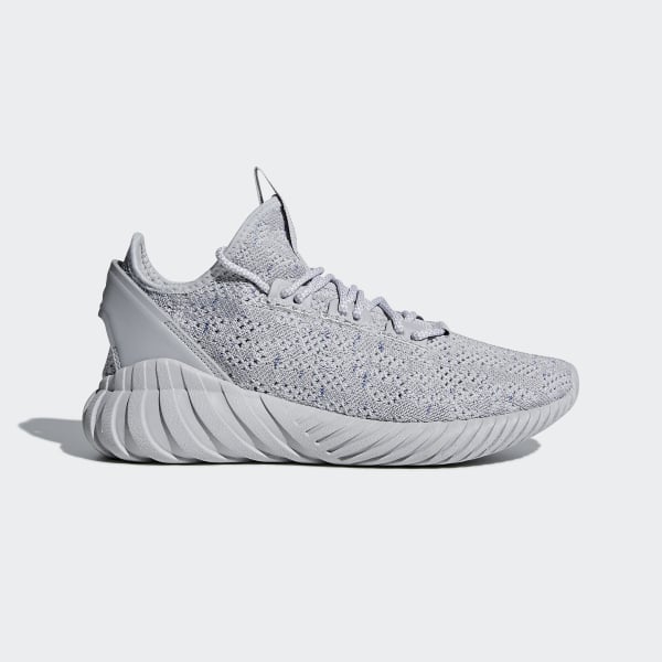 Tubular Doom Sock Primeknit Shoes Grey   Cloud White   Hi-Res Blue CG5512 be107d7d0dea