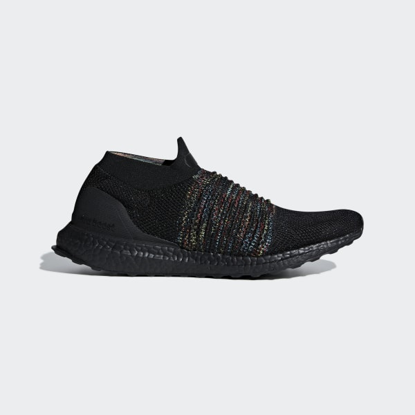 promo code 86e13 3a96f Zapatilla Ultraboost Laceless Core Black   Shock Cyan   Shock Yellow B37685
